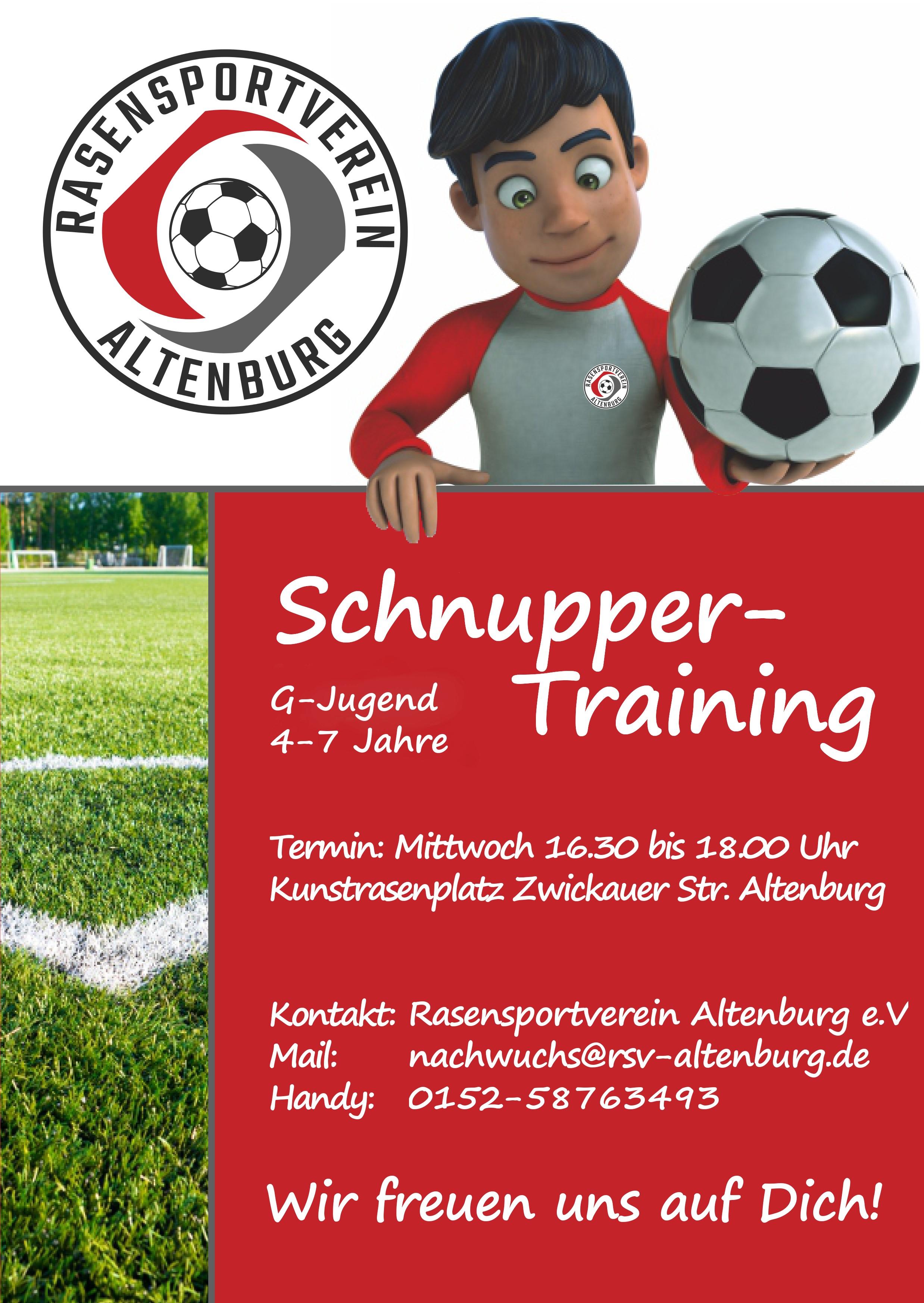 Fußball-Schnuppertraining in Altenburg - RSV Altenburg
